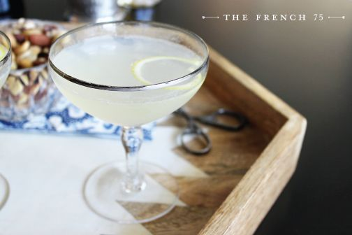 The French 75 Cocktail : FIG + COTTON