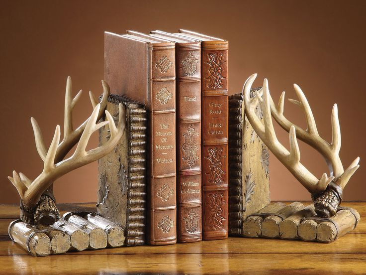 1000 images about antlers horns furniture decor on pinterest western furniture furniture - Deer antler bookends ...