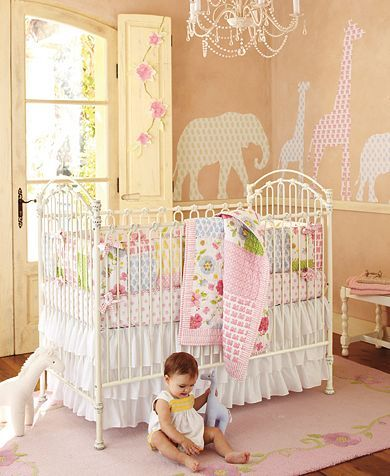 Lily Nursery from Pottery Barn Kids  Looks like this is the new top contender for Finley's new room. Ouch pocket book but when in doubt go pottery barn.
