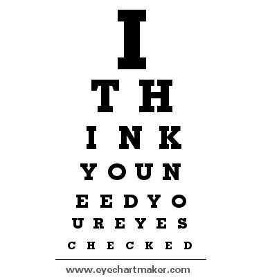 Funny Eye Chart Gandafullring