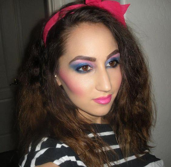 an AMAZING make-up tutorial 1980s makeup look: