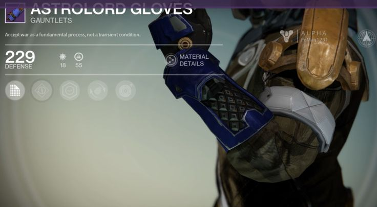 Astrolord gloves is a pair of legendary warlock gauntlets manufactured