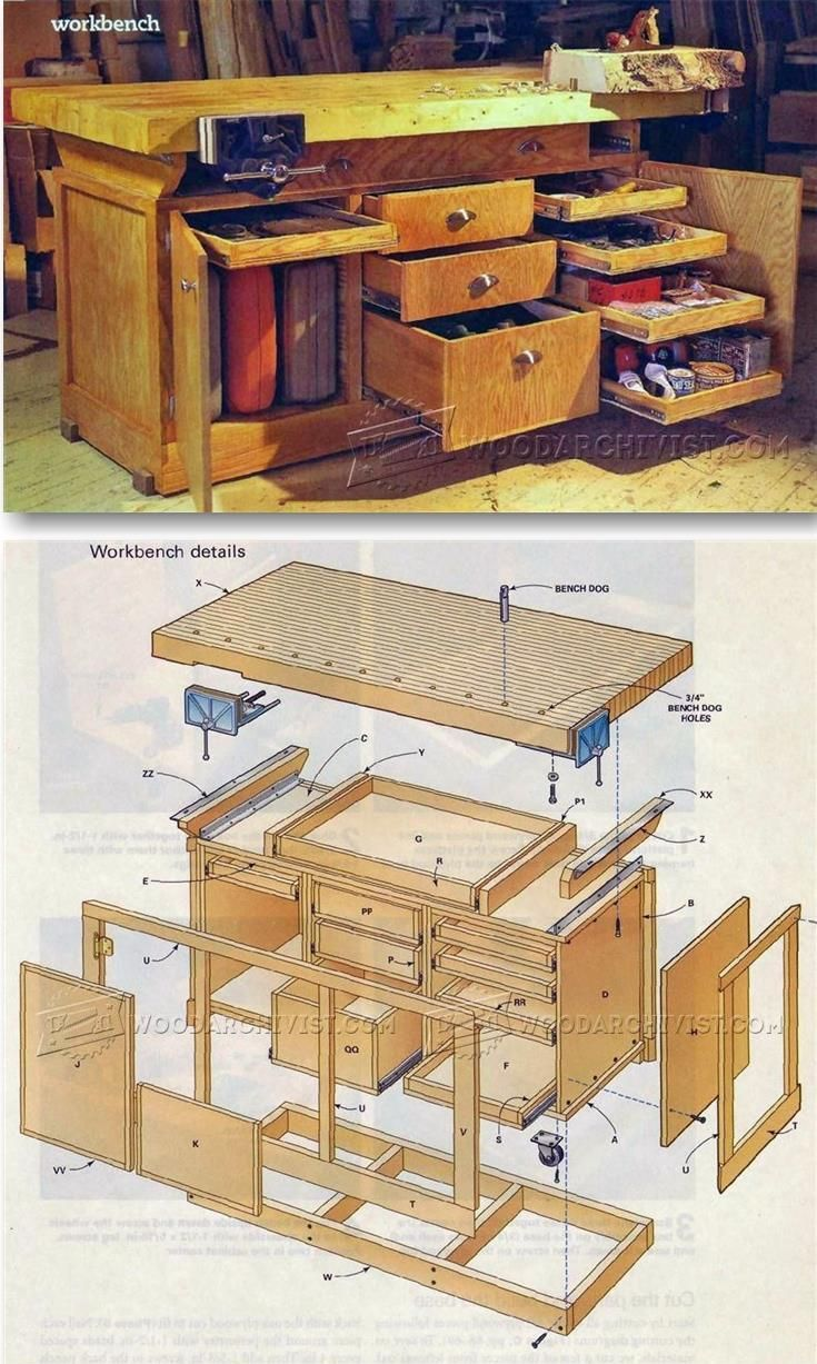 Rock-Solid Workbench Plans - Workshop Solutions Projects, Tips and Tricks | WoodArchivist.com