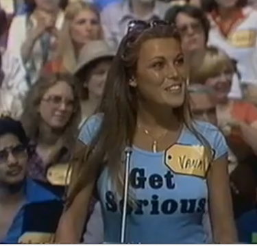 Vanna White, of the Wheel of Fortune is all smiles as she is called down from the audience on the Price is Right on June 18, 1980.