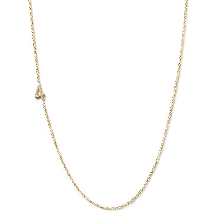 larger image of 14K Gold Asymmetrical Number Necklace - 4