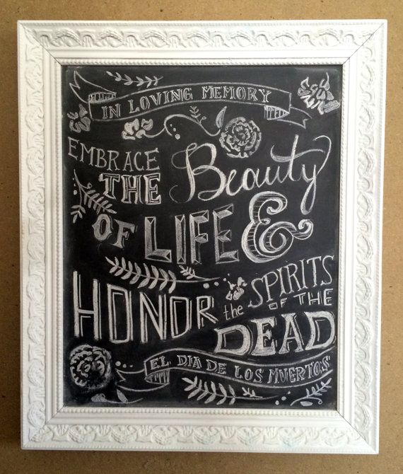 Dia de Los Muertos Wedding Chalkbaord Sign by RomanceAndRebellion, $75.00