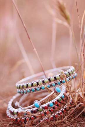 Southwestern Bracelets | Southwestern Turquoise and Sterling Silver Bracelets by Don Lucas Jewelry.