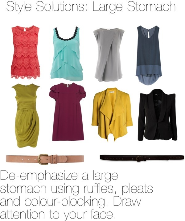 """""""Style Solution: Large Stomach"""" by fitcolourcombination on Polyvore"""
