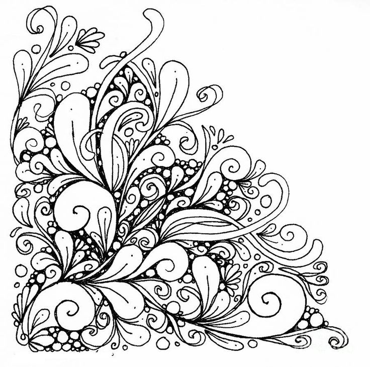 Flower Abstract Coloring Pages : 70 best coloring pages images on pinterest