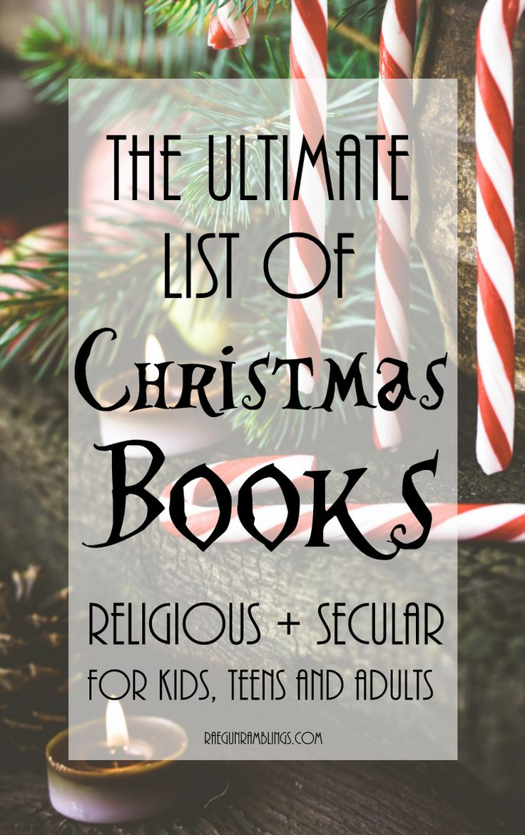 Lots of great Christmas books for the whole family. Both nativity books and santa and snowman. From Board books for kids to novels for teens and adults.