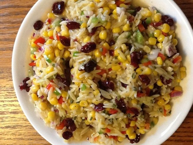 My fave!!!!!!!  Perfect with a fine piece of tuna. J. Alexander's Orzo and Wild Rice Salad from CDKitchen.com