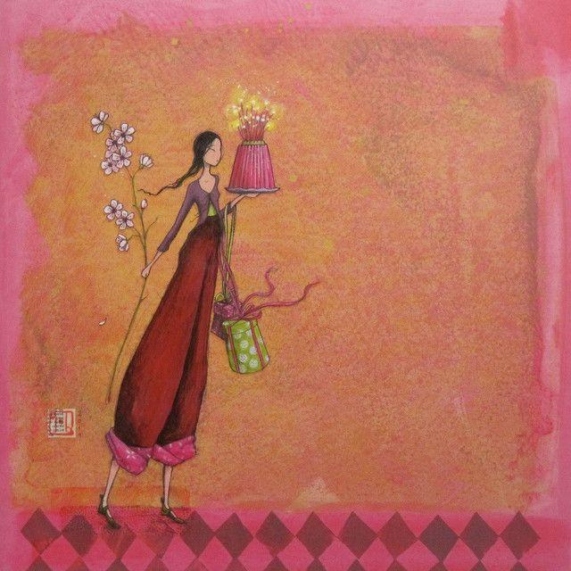 Gaelle Boissonnard Birthday Card GB83   South Hollow Gallery Leapenhi Paper