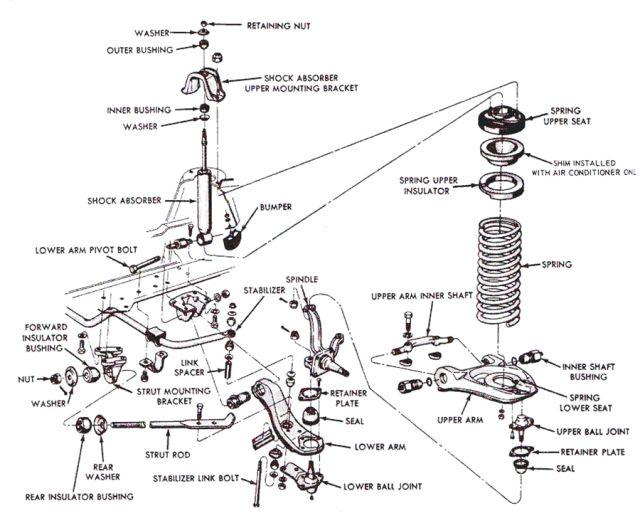 Google Image Result For Https Onemanandhismustang Files Wordpress Com 2014 07 Suspensionexplodedview Jpg W Mustang Chevrolet Camaro Black Leather Upholstery