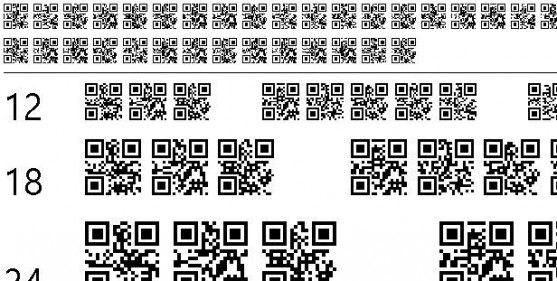 Font Barcode Free Download - QR font tfb (TrueType)