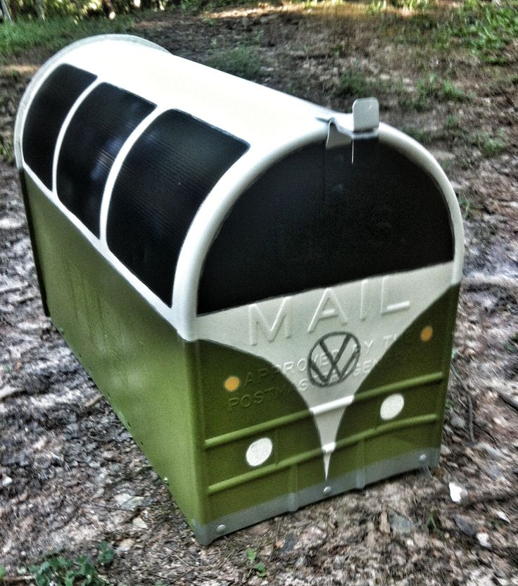 Freshly painted VW bus mailbox! So loving it!!