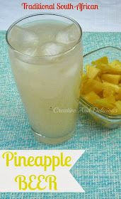 Pineapple Beer ~ Delicious South-African traditional drink, usually homemade ! #SouthAfricanRecipes #PineappleBeer #Drinks