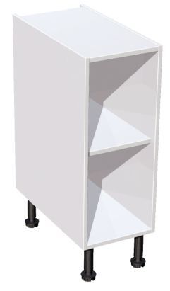 It kitchens white standard base cabinet w 300mm base for Kitchen cabinets 500mm depth