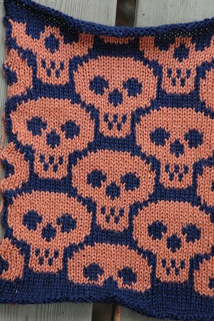 Ossuary chart knitting