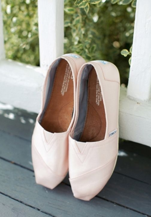Adding a pair of TOMS Classics to your wedding day look will help a child in need.