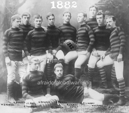 Photo 1882 University of Pennsylvania Football Team  www.fashion.net