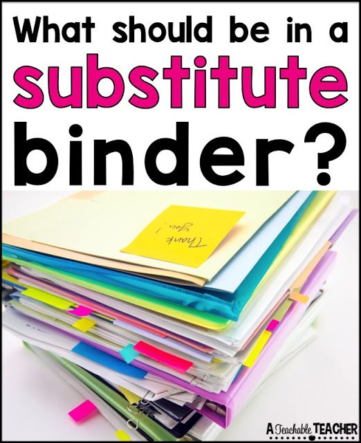 A Teachable Teacher: All About Substitute Binders                                                                                                                                                                                 More