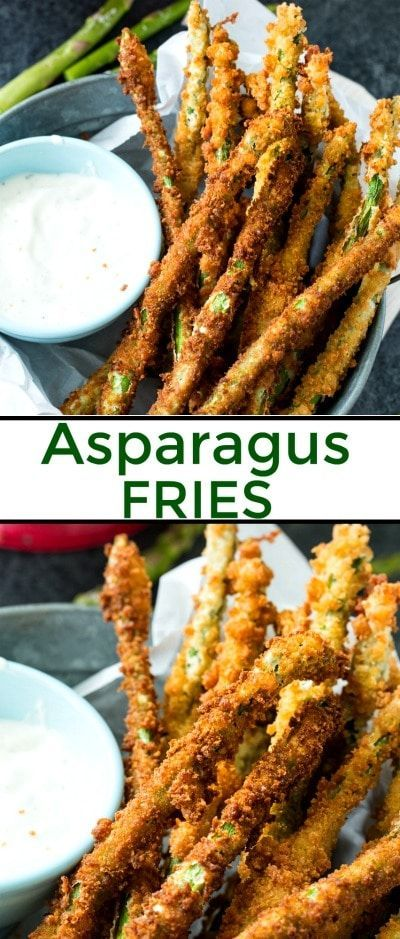 Fried Asparagus makes a great spring appetizer #asparagus #recipe via @FMSCLiving
