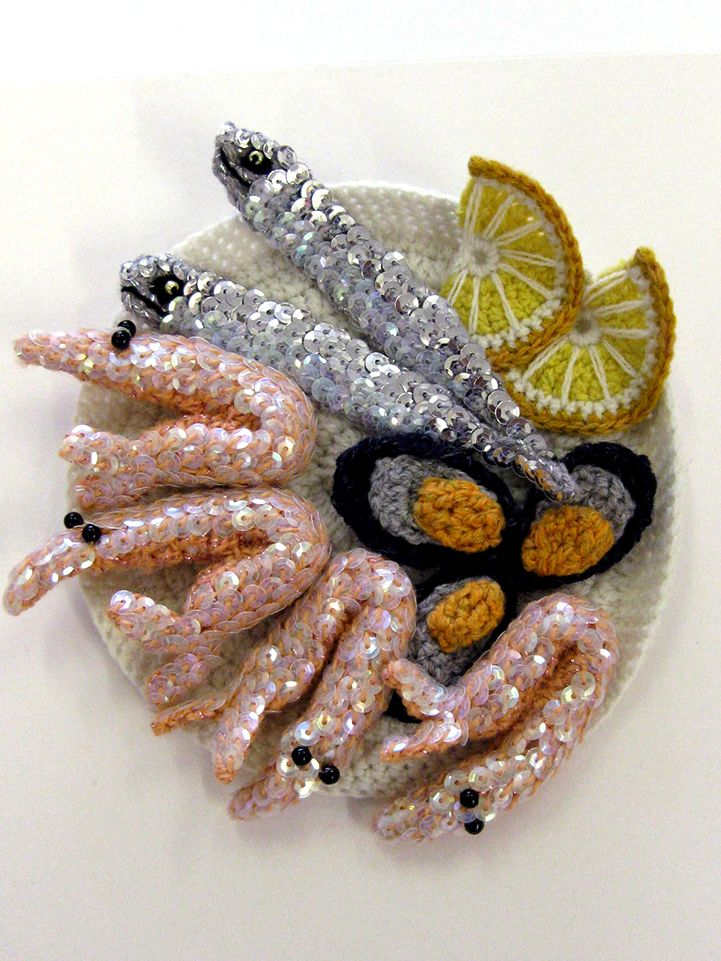 Pescadito frito de crochet