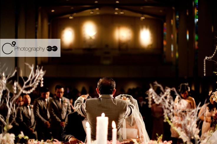bride + groom + wedding party