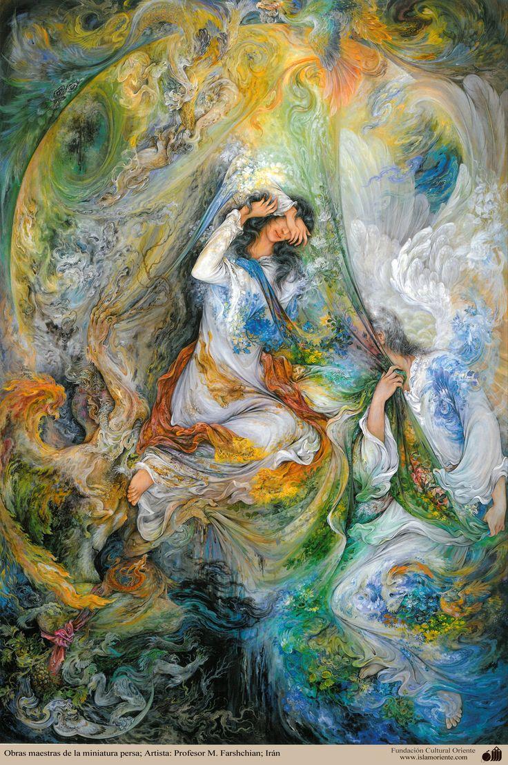 Obras maestras de la miniatura persa; Artista: Profesor M. Farshchian - 1 | Galería de Arte Islámico y Fotografía