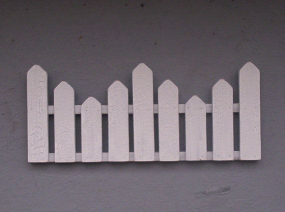 Appy Decorative White Picket Fence With Crackle by SenecaByDesign