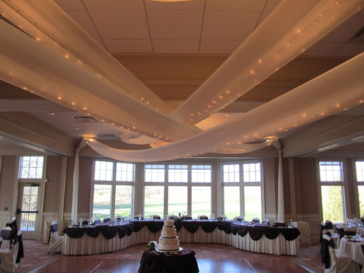 208 best party ceilings images on pinterest weddings good ideas lighted fabric ceiling swags and head table for wedding party mozeypictures Images