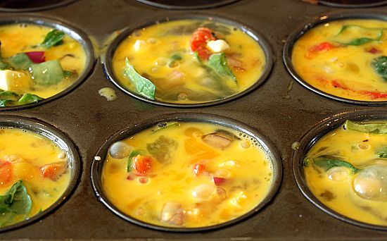 mini egg omlettes : bake once, and have breakfast for the week!