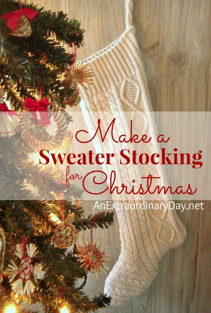 There's something special about a homemade Christmas stocking. Follow this tutorial to repurpose a favorite old sweater into treasured stockings for all.