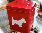 Red Westie Storage Tin For Pet Treats