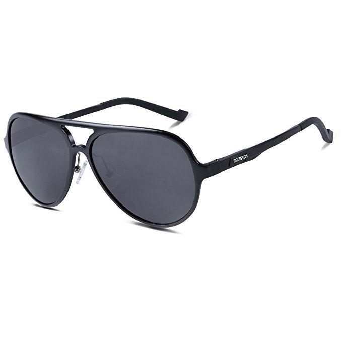 692151d93852 HODGSON Aviator Polarized Sunglasses for Men Women, AL-MG Alloy Frame and  Unbreakable Lenses | Men | Polarized aviator sunglasses, Sunglasses, ...
