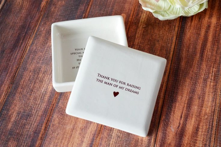 SHIPS FAST - Unique Mother of the Groom Gift or Birthday Gift - Square Keepsake Box - With Gift Box by Susabella