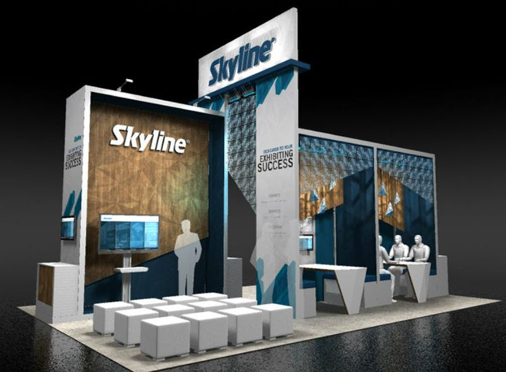 Modern Exhibition Booth Design : Exhibitor show skyline trade booth