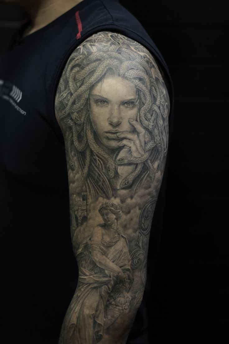 medusa tattoo bng style.
