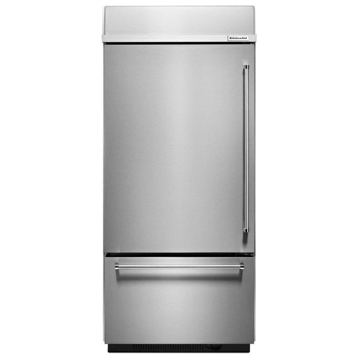 KitchenAid 20.86-cu ft Built-in Bottom-Freezer Refrigerator with Single Ice Maker (Stainless Steel) ENERGY STAR