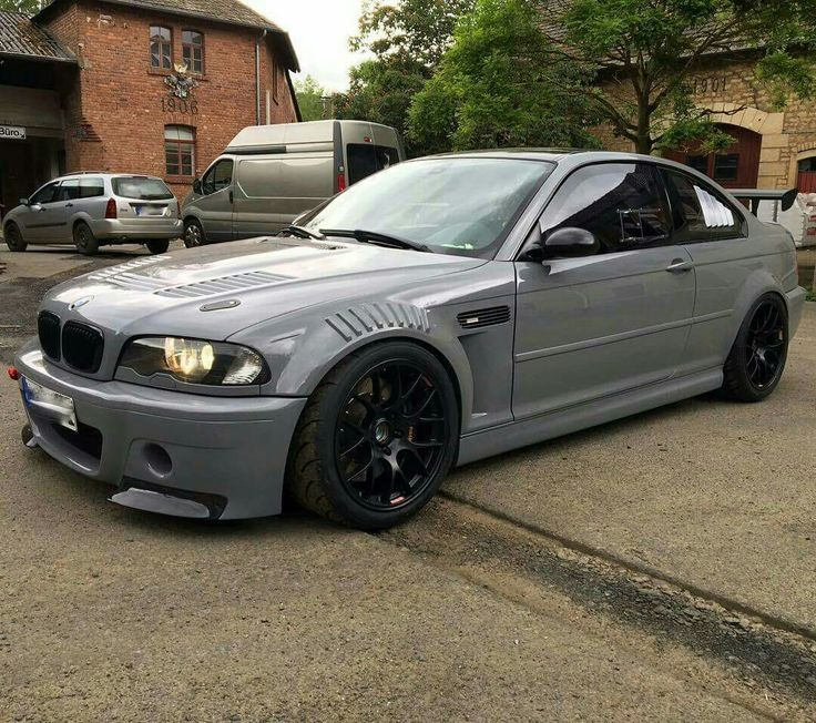 #BMW_E46_M3 #Stance #Slammed  grey