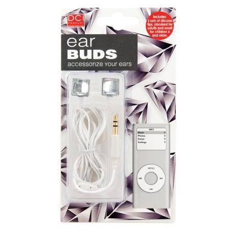 Diamonds are your best friends when you can stick them in your ear-  Sale Price: $ 9.95: http://www.dannabananas.com/stylish-ear-bud-head-phones-1.html