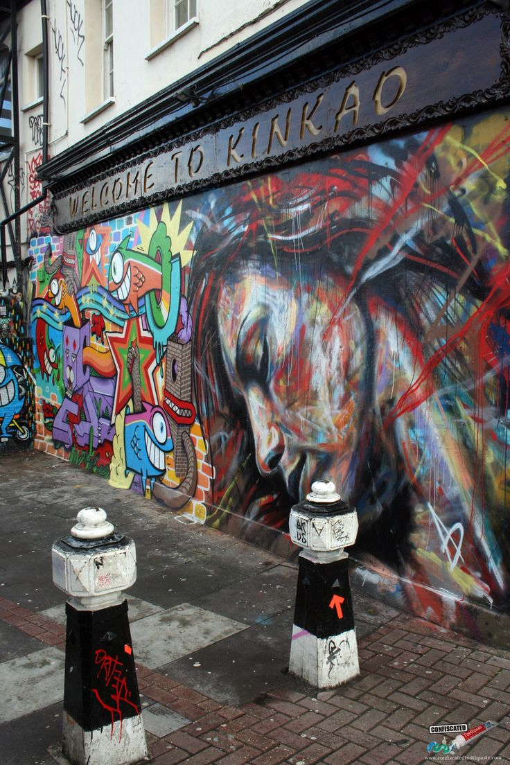 Street art in Brick Lane  18 Cool Things to Do in London --> http://www.confiscatedtoothpaste.com/cool-things-to-do-in-london/