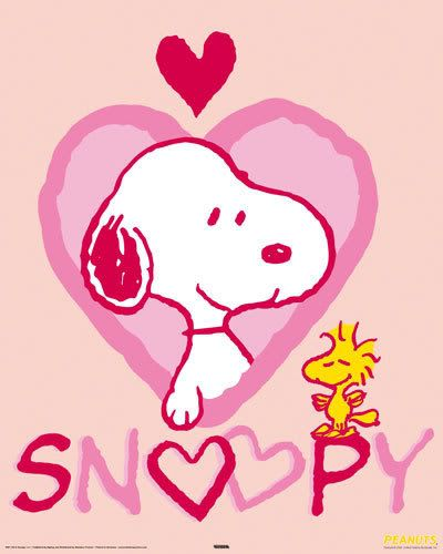 new peanuts lovely dog comic cartoon snoopy red hearts postcard - Cartoon Valentine Pictures