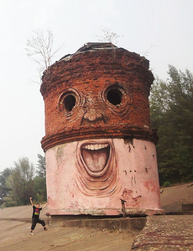 haunting and hilarious street art