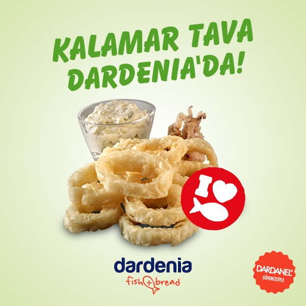Aioli sos ile birlikte Kalamar Tava!  http://www.dardenia.com/menu/tempura
