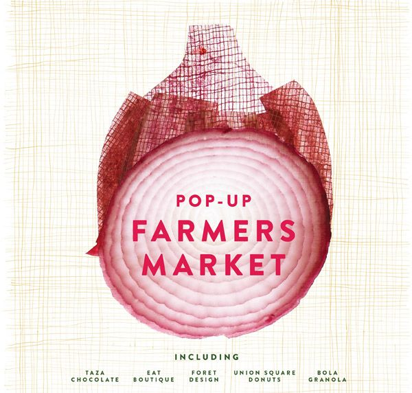 pop-up farmers market posterposter