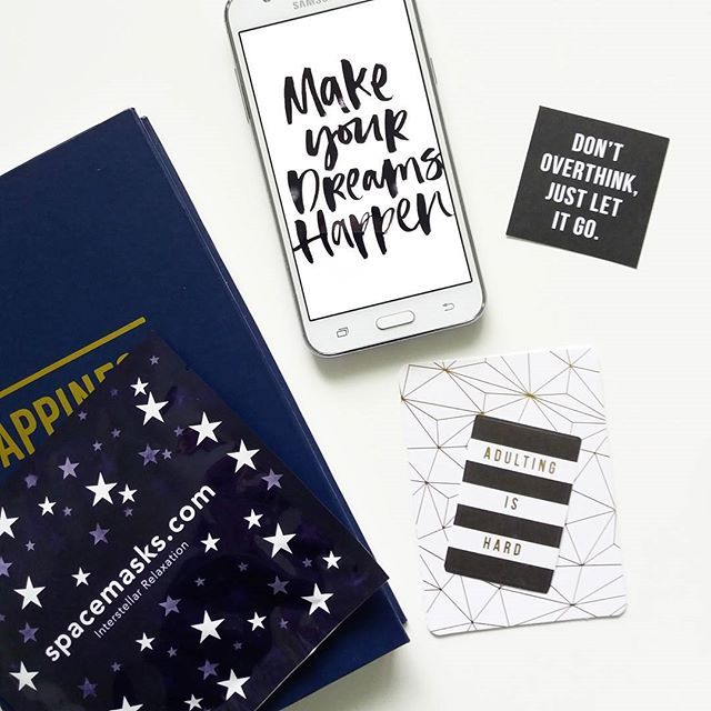 Don't over think, just let it go. ☄ .  .  .  .    #uusituote #spacemask #inspirastiota #inspiration #tiistai #hälsa #kosmetik #kosmetiikka #girlboss #fempreneur #yrittäjä #verkkikauppa #hyvinvointi #terveys #voihyvin #tähti #mambi #letitgo #plannner #happinessplanner #kalenteri #quote