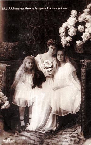 Queen Maria of Romania and her daughters