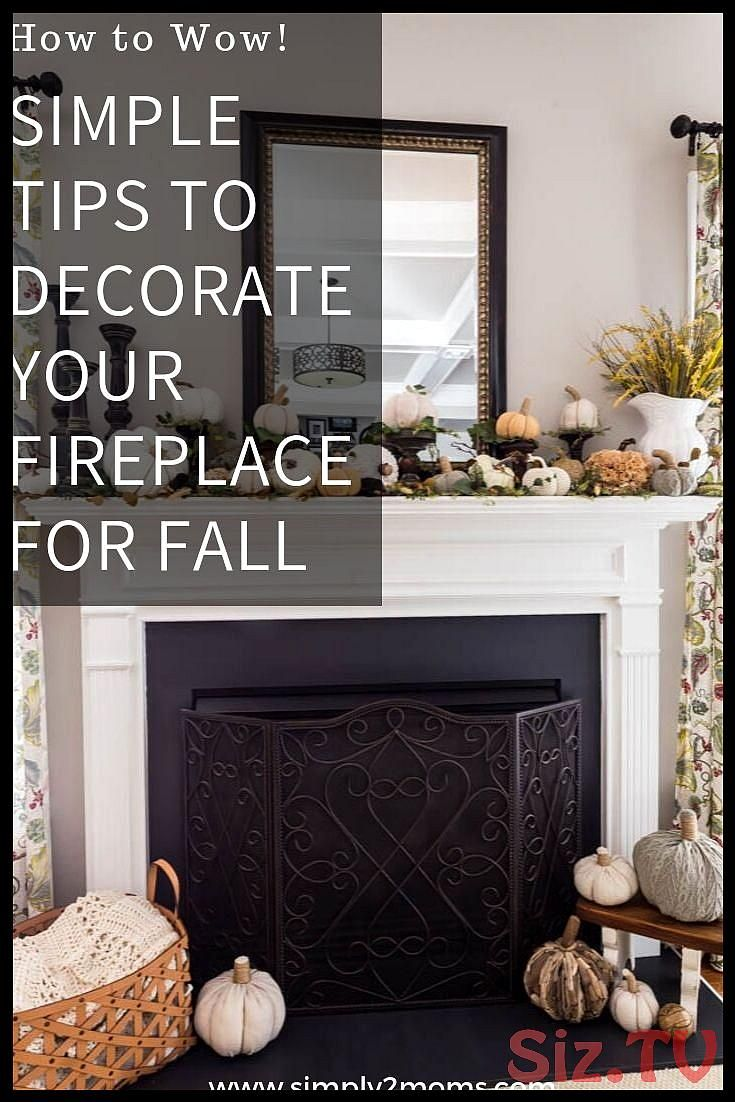 Neutral Fall Fireplace Mantel Decor Neutral Fall F…