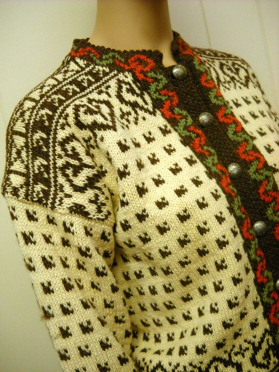 "Pattern: Husfilden Øyer-koften 267. Label: ""Osterdal Husflid ~ Handmade in Norway"""